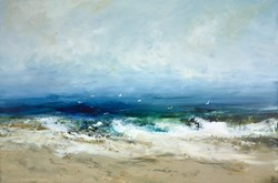 Island Life by Hudson Parkin - Original Painting on Box Canvas sized 59x39 inches. Available from Whitewall Galleries