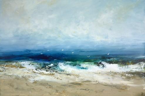 Island Life by Hudson Parkin - Original Painting on Box Canvas
